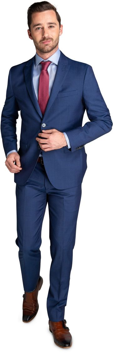 Suitable Strato Serge Suit Indigo
