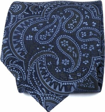 Suitable Stropdas Paisley Blauw