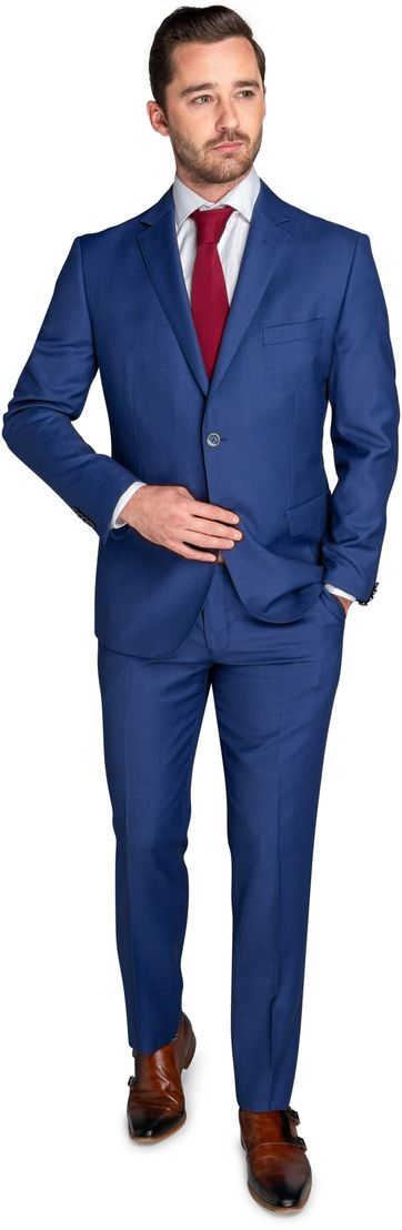Suitable Suit Lucius Birdseye Indigo
