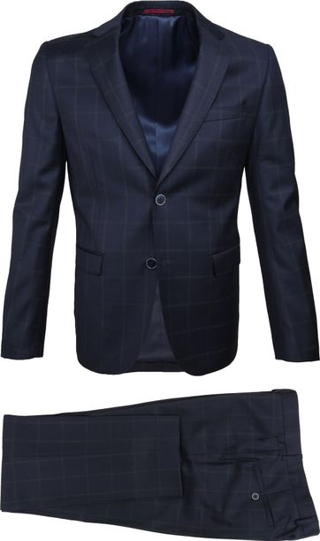 Suitable Suit Strato Tou Check Navy
