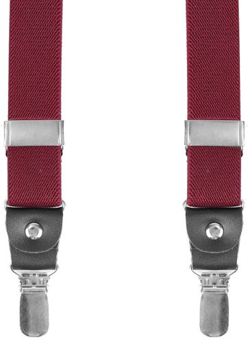 Suitable Suspenders Bordeaux Red