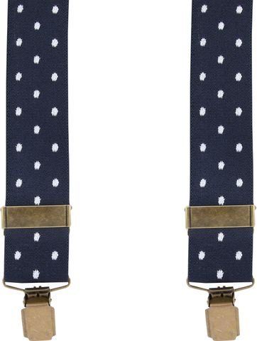 Suitable Suspenders Navy Dots