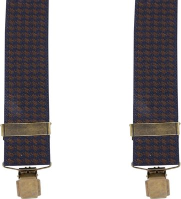 Suitable Suspenders Navy Pied De Poule