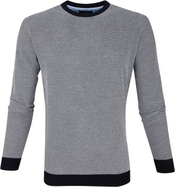 Suitable Thomas Pullover Navy Stippen