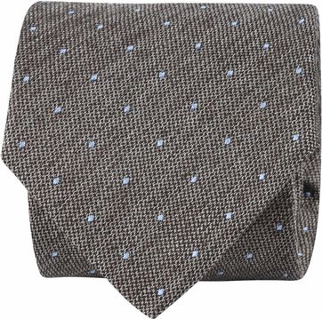 Suitable Tie Blocked Dots Brown