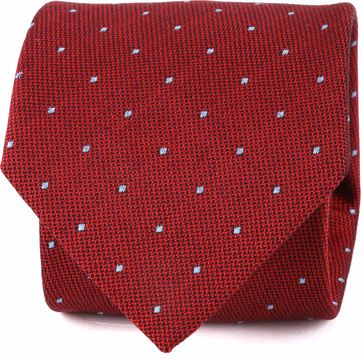 Suitable Tie Blocked Dots Red