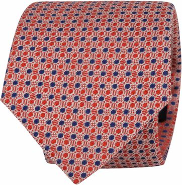 Suitable Tie Blocked Dots Red Navy