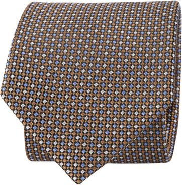Suitable Tie Brown Printed