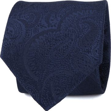 Suitable Tie Paisley Navy