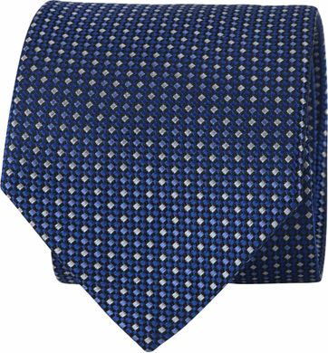 Suitable Tie Printed Blauw