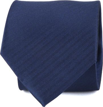 Suitable Tie Silk Dark Blue
