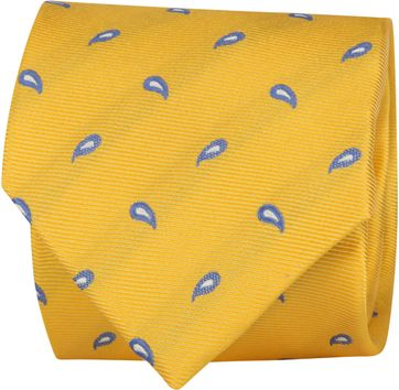 Suitable Tie Twill Paisley Yellow