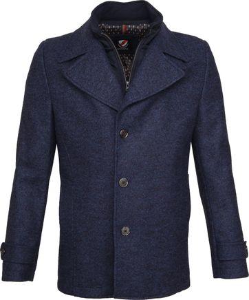 Suitable Turijn Coat Blauw