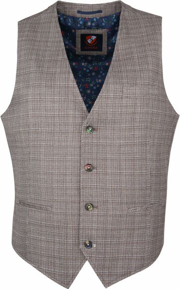 Suitable Vero Waistcoat Brown