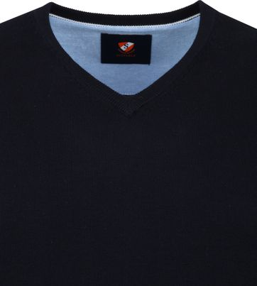 Suitable Vini Pullover V-neck Navy