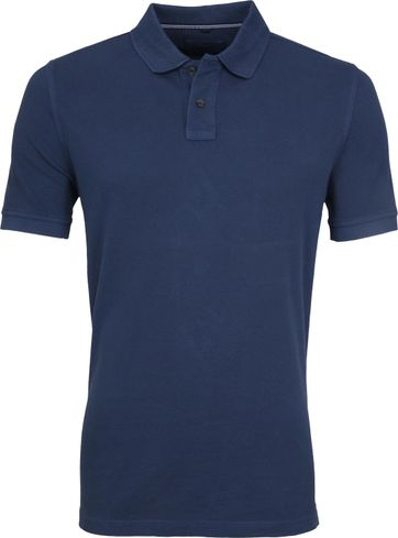 Suitable Vintage Poloshirt Donkerblauw