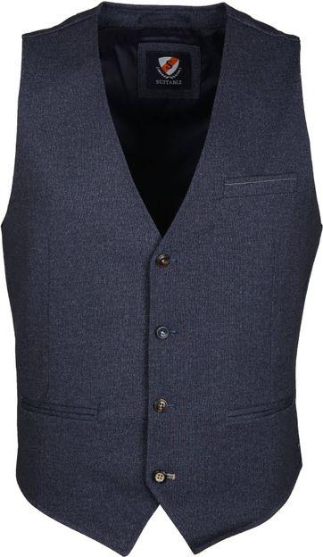 Suitable Waistcoat Jersey Indigo