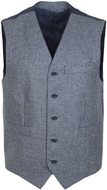 Suitable Waistcoat Marzo Checks Dark Grey