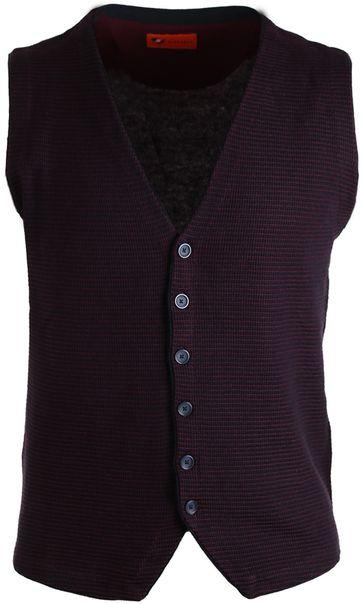 Suitable Waistcoat Navy & Bordeaux