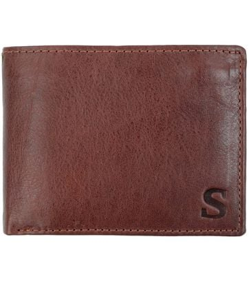 Suitable Wallet Brown Leather - Skim Proof