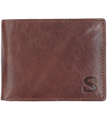 Suitable Wallet Dax Brown Leather - Skim Proof
