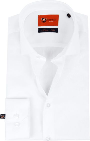 Suitable White Shirt Slim Fit DR-01