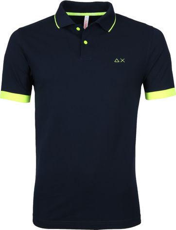 Sun68 Polo Small Stripe Donkerblauw