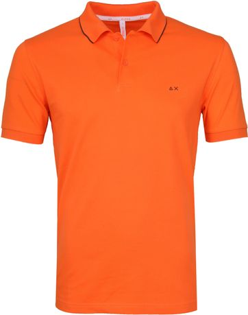 Sun68 Polo Small Stripe Orange SF