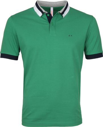 Sun68 Polo Three Collar Green