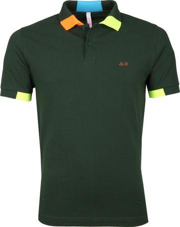 Sun68 Poloshirt Fluor Multi Dark Green