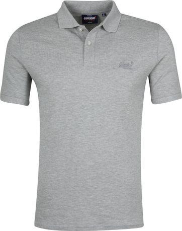 Superdry Micro Classic Poloshirt Grau