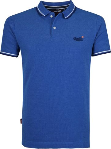Superdry Polo Poolside Middenblauw