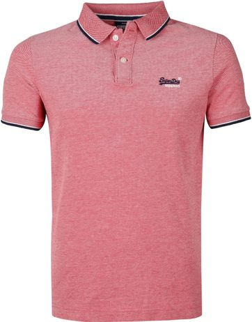Superdry Polo Poolside Rood