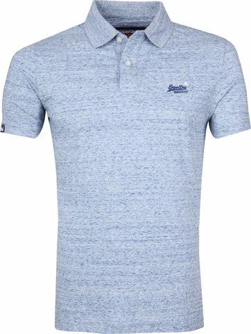 Superdry Poloshirt Melange Blau