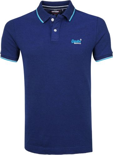 Superdry Poloshirt Poolside Dark Blue
