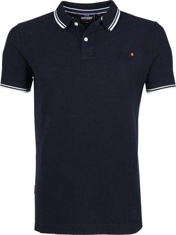 Superdry Poloshirt Poolside Dunkel Blau