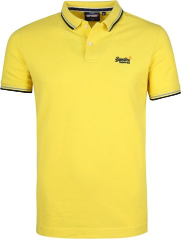 Superdry Poloshirt Poolside Gelb