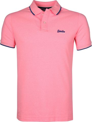 Superdry Poloshirt Poolside Rosa