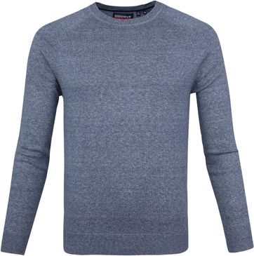 Superdry Pullover OL Cotton Crew Blau