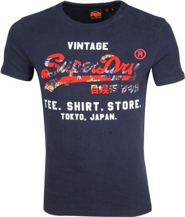 Superdry T-shirt Logo Donkerblauw