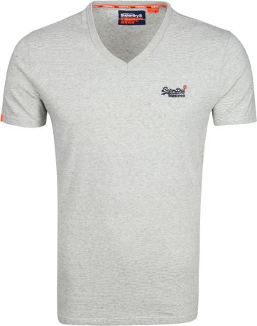 Superdry T-shirt V-hals Grijs