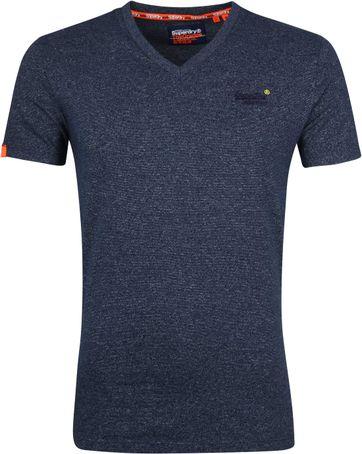 Superdry T-shirt V-neck Navy Stripes