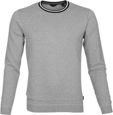 Ted Baker Pullover Grau Streifen
