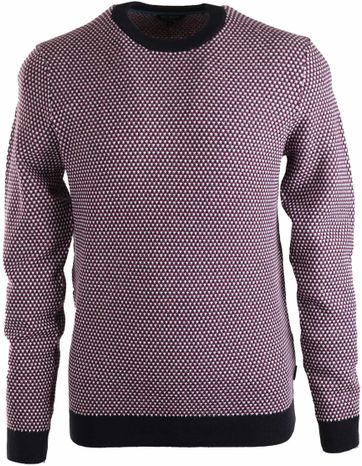 Ted Baker Sweater Navy Paars