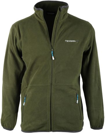 Tenson Fleece Cardigan Miller Green