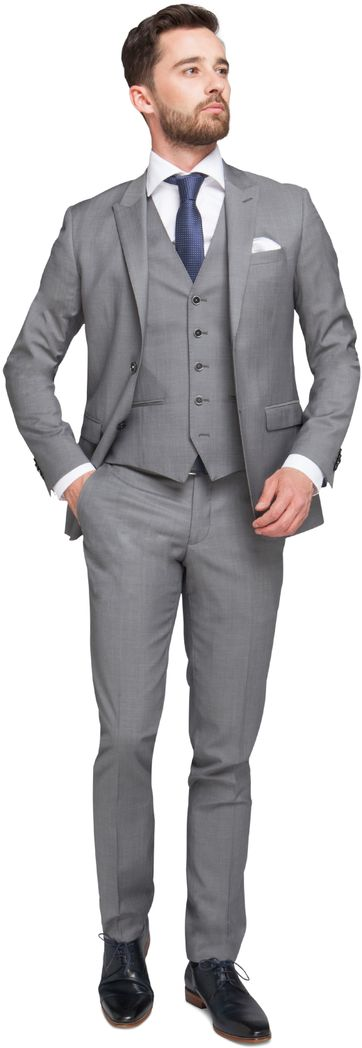 Three piece suit Grey
