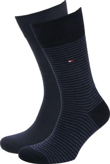 Tommy Hilfiger 2-Pair Socks Stripe Uni Navy