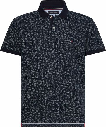 Tommy Hilfiger Polo Desert Sky Donkerblauw