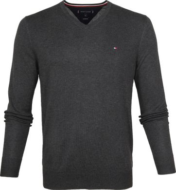 Tommy Hilfiger Pullover V-Neck Dark Grey