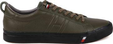 Tommy Hilfiger Sneaker Leer Dark Green